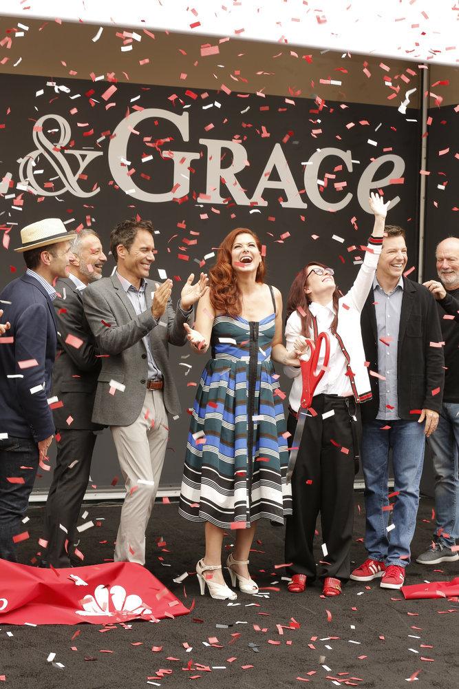 Wardrobe Breakdown: Debra Messing At Will & Grace Ribbon Cutting Ceremony