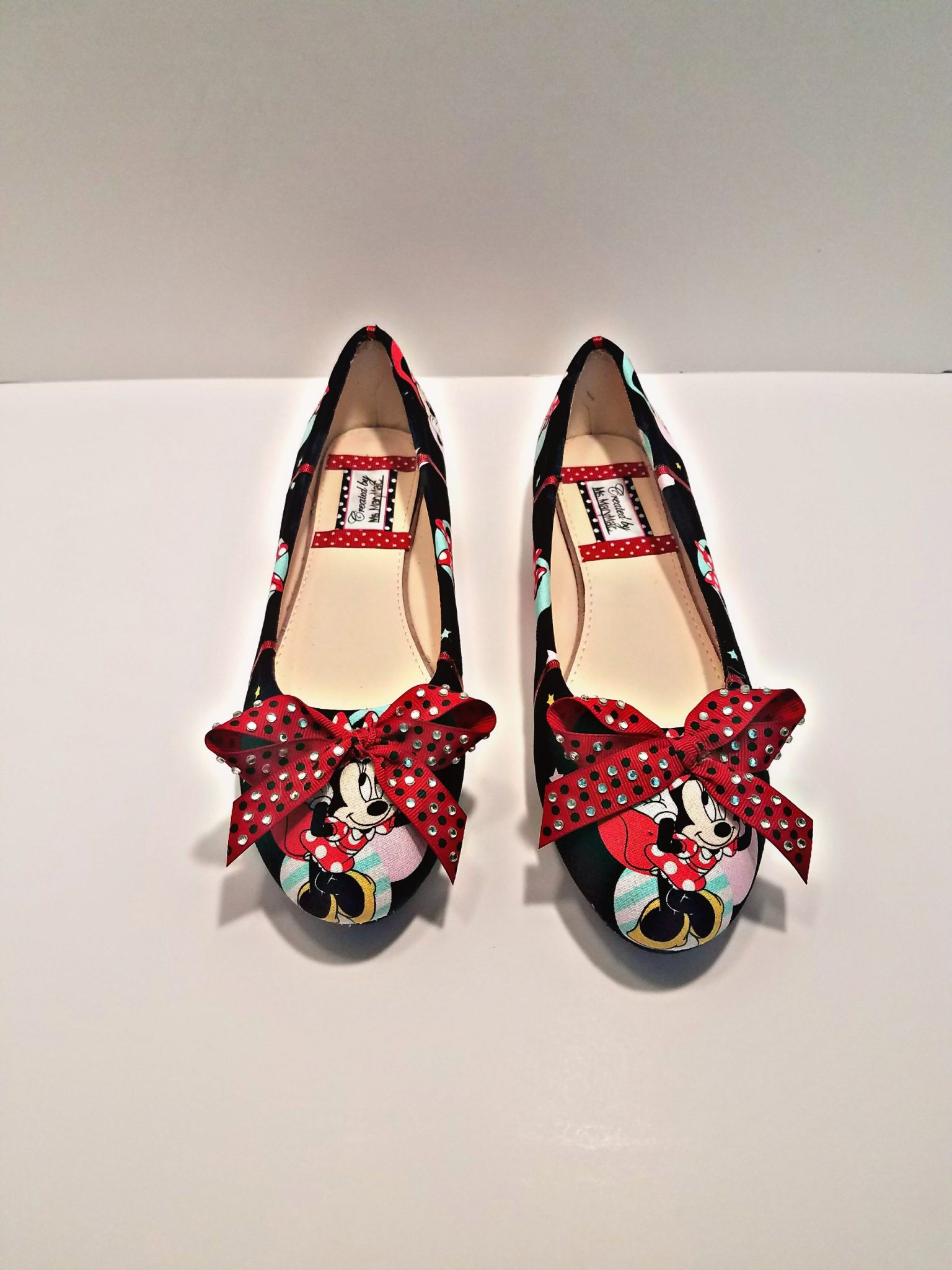 Ms. MaryMac Custom Minnie Mouse Ballet Flats