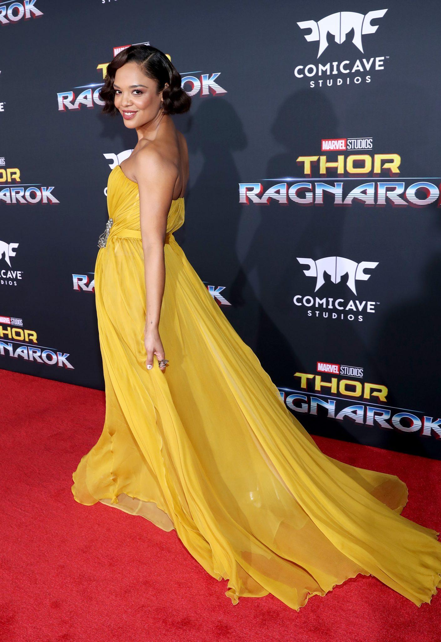 Wardrobe Breakdown: Tessa Thompson At Thor: Ragnarok World Premiere