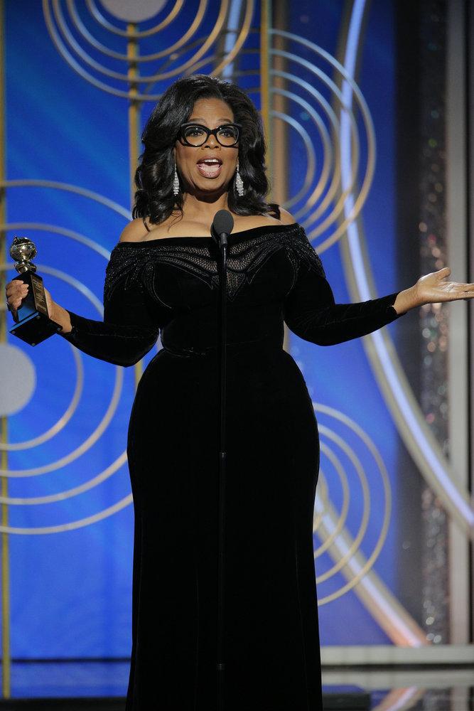 Wardrobe Breakdown: Oprah At The Golden Globes