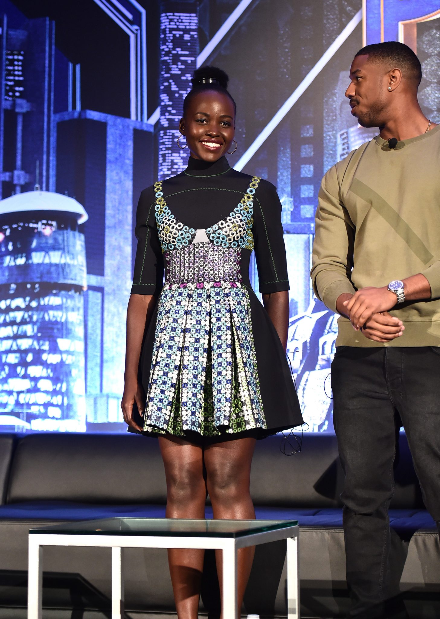 Wardrobe Breakdown: Lupita Nyong'o At Black Panther Press Junket