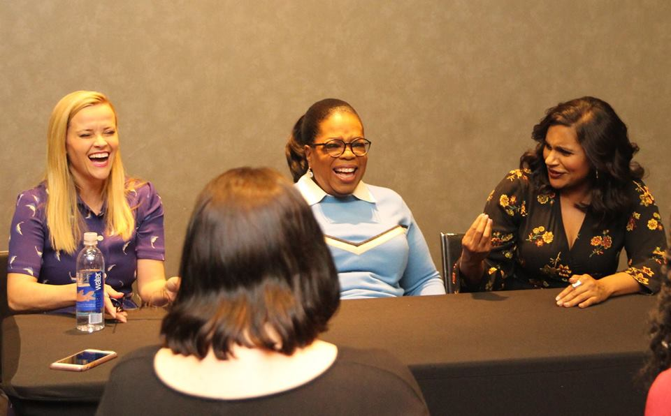 Round Table Discussion With Oprah, Reese Witherspoon & Mindy Kaling From A Wrinkle In Time