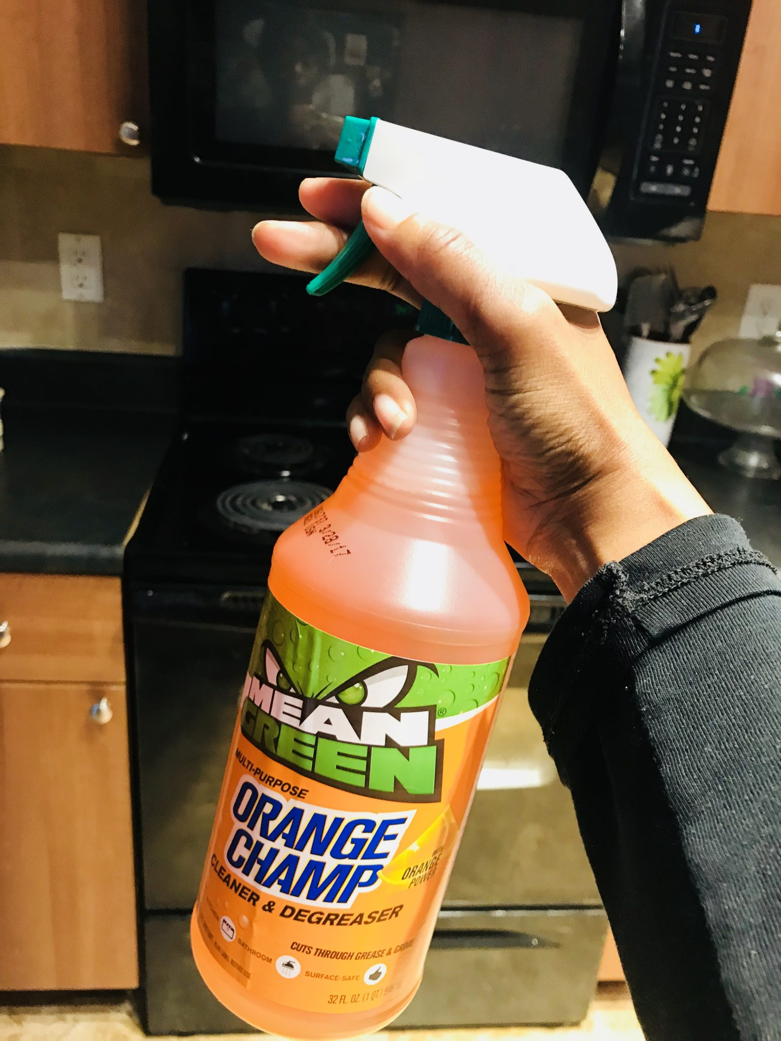 Cleaning With Mean Green Super Strength