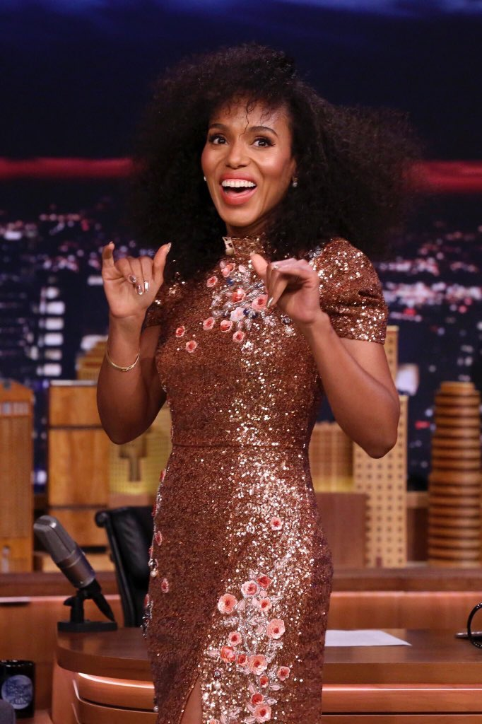 Wardrobe Breakdown: Kerry Washington On Jimmy Fallon