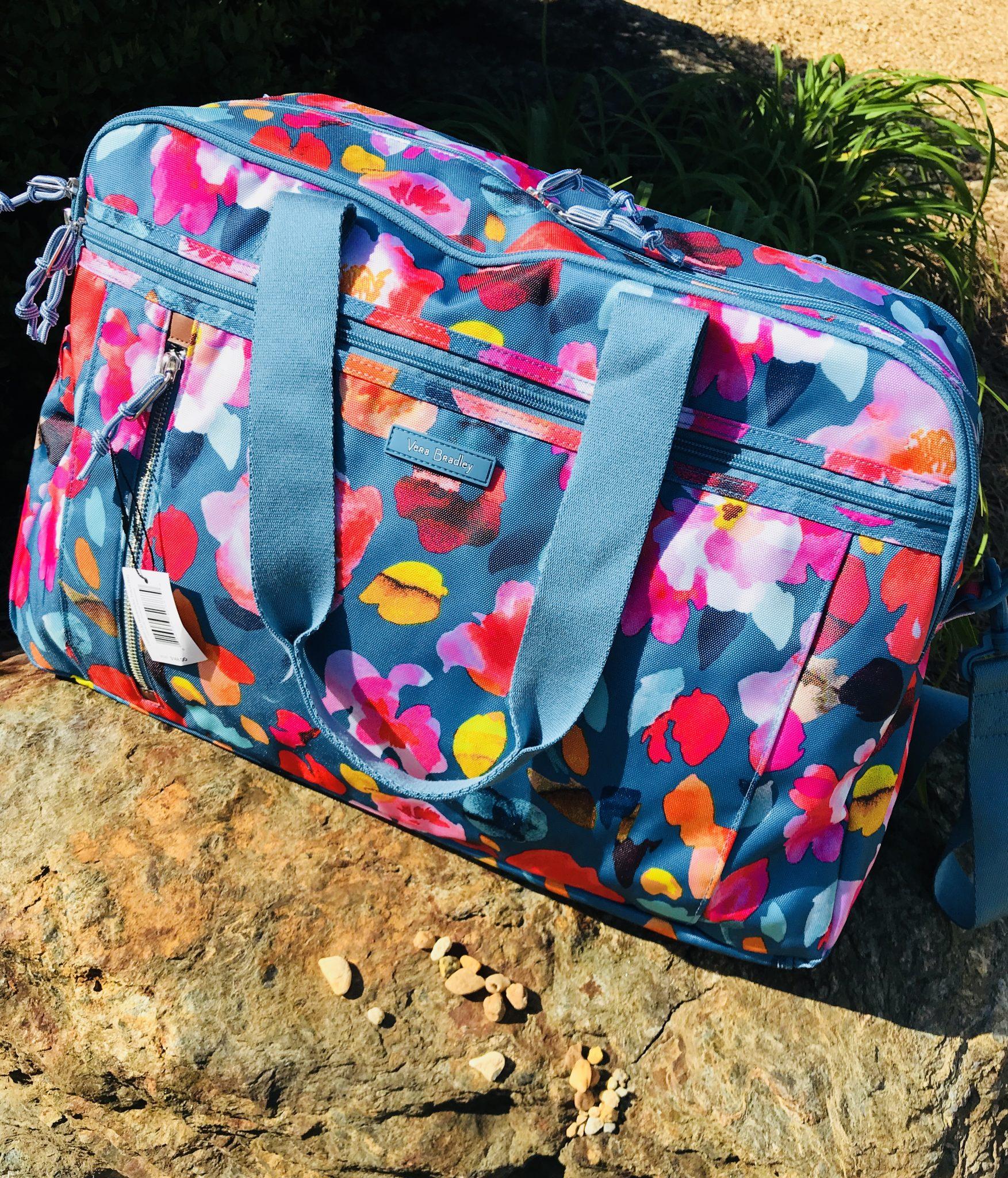 3129027d9 Vera Bradley Scattered Superbloom Foldable Roller & Weekender Travel ...