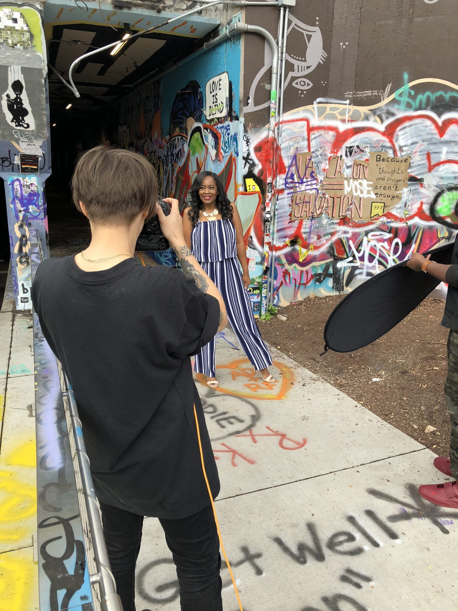 Behind-The-Scenes Spring Fashion Photo Shoot With Bustle