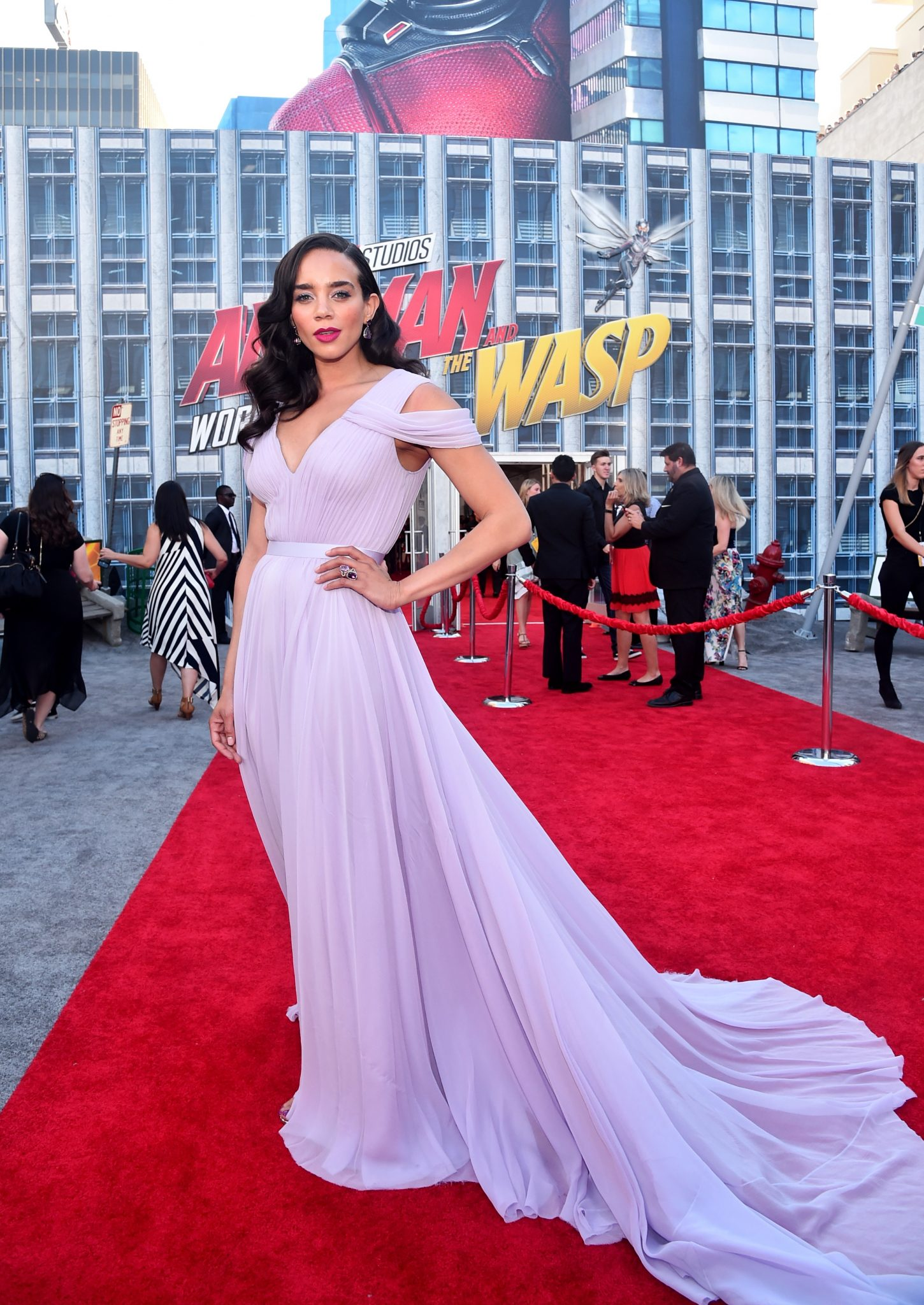 Wardrobe Breakdown: Hannah John-Kamen At Ant-Man And The Wasp Global Premiere