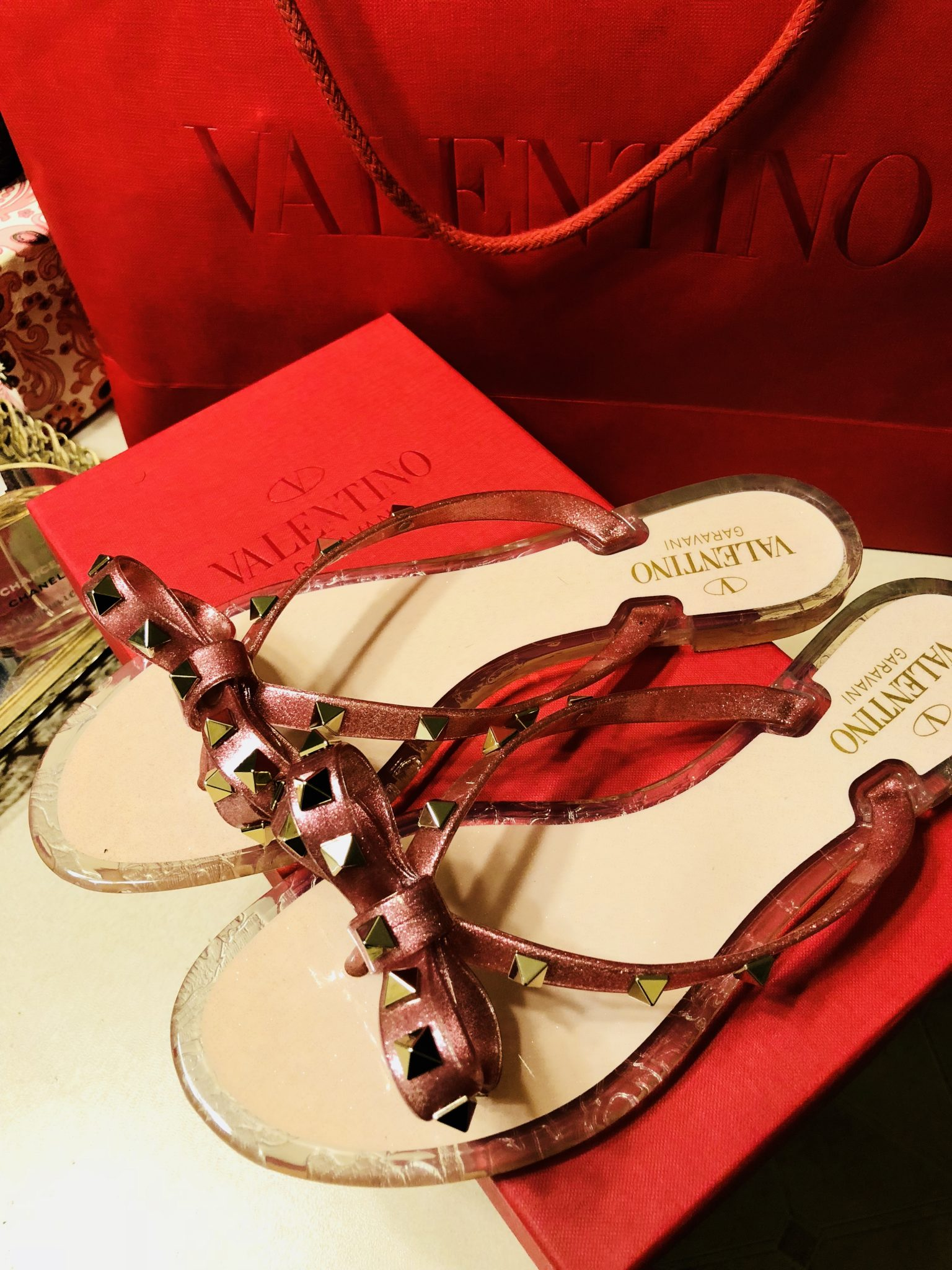 Cutest Summer Sandal: Valentino Garavani Rockstud Bow Flip Flop Sandals