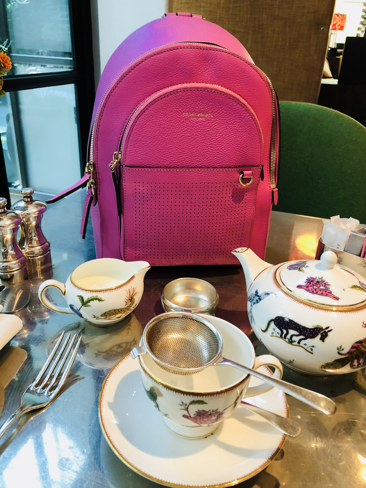 High Tea With My Henri Bendel Influencer Backpack