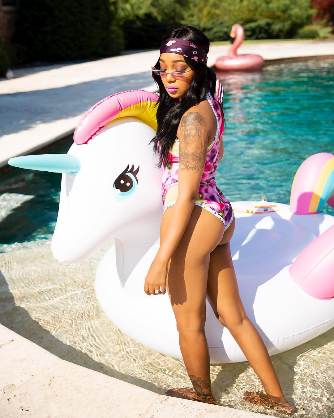 Wardrobe Breakdown: Monica Brown Poolside