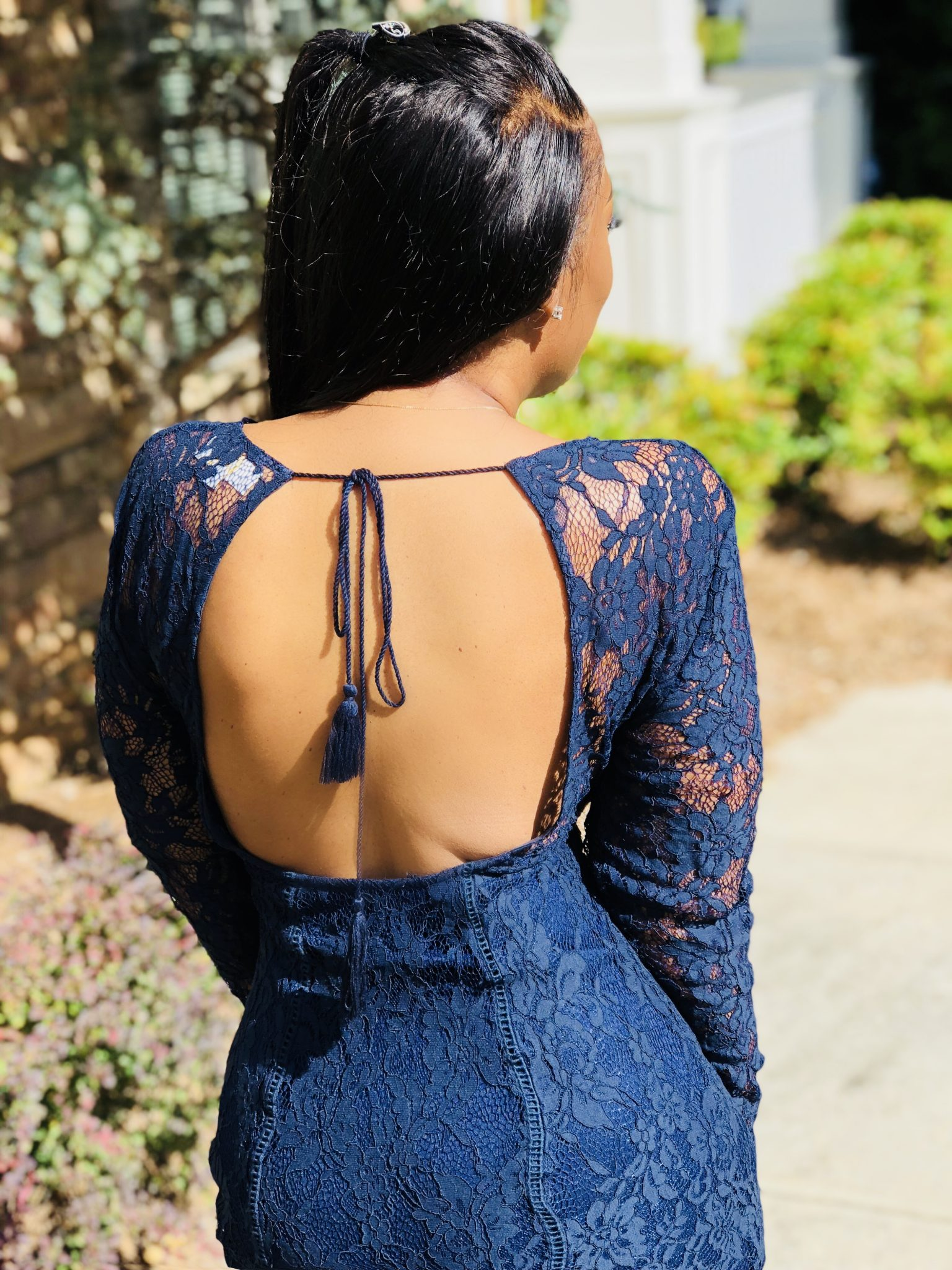My Style: Lace Backless Dress