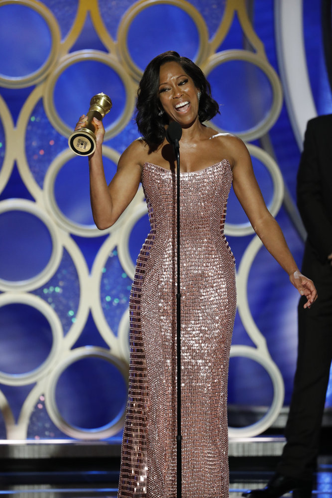 Wardrobe Breakdown: Regina King At Golden Globe Awards