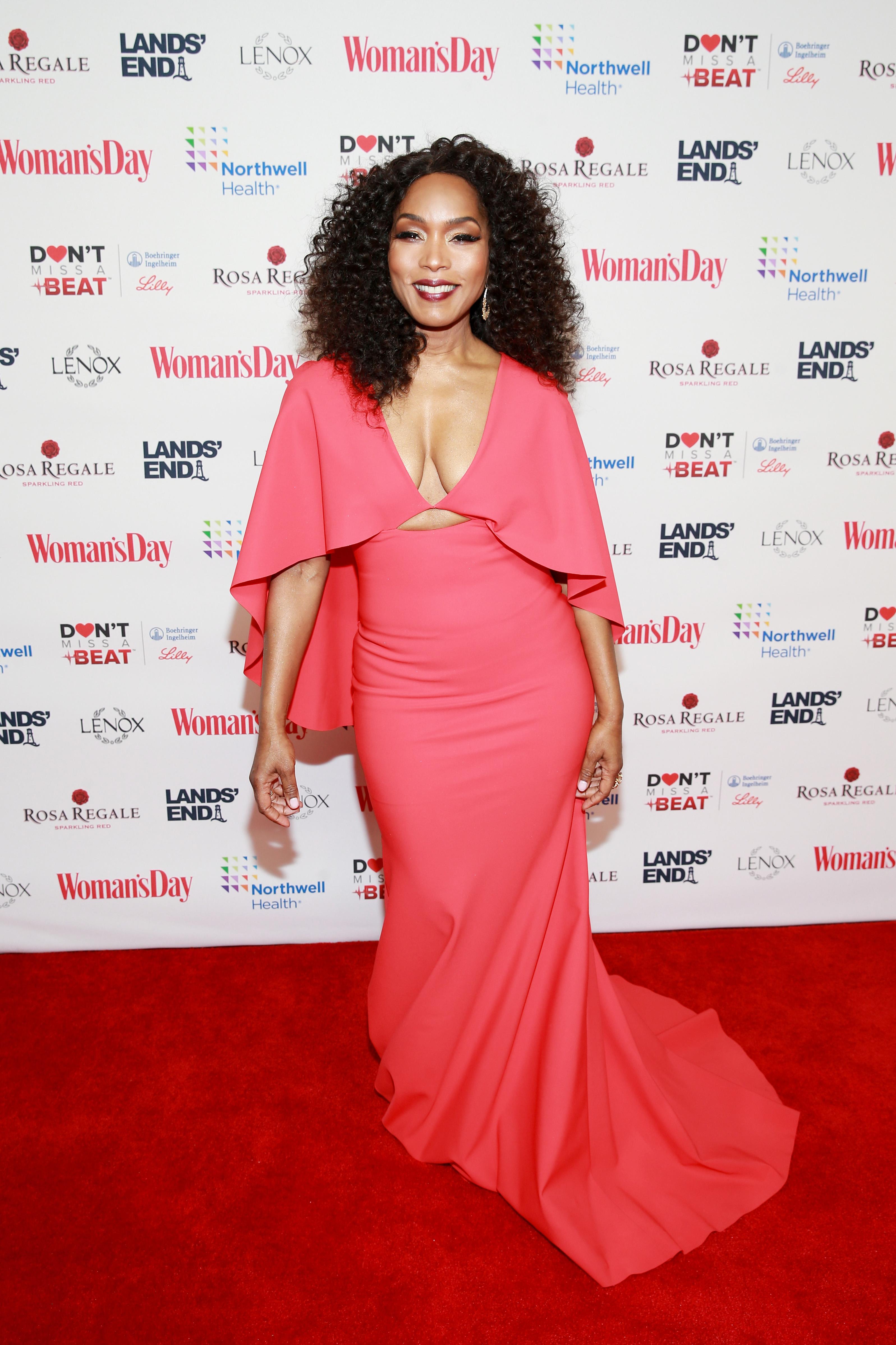 Wardrobe Breakdown: Angela Bassett At Woman's Day Red Dress Awards