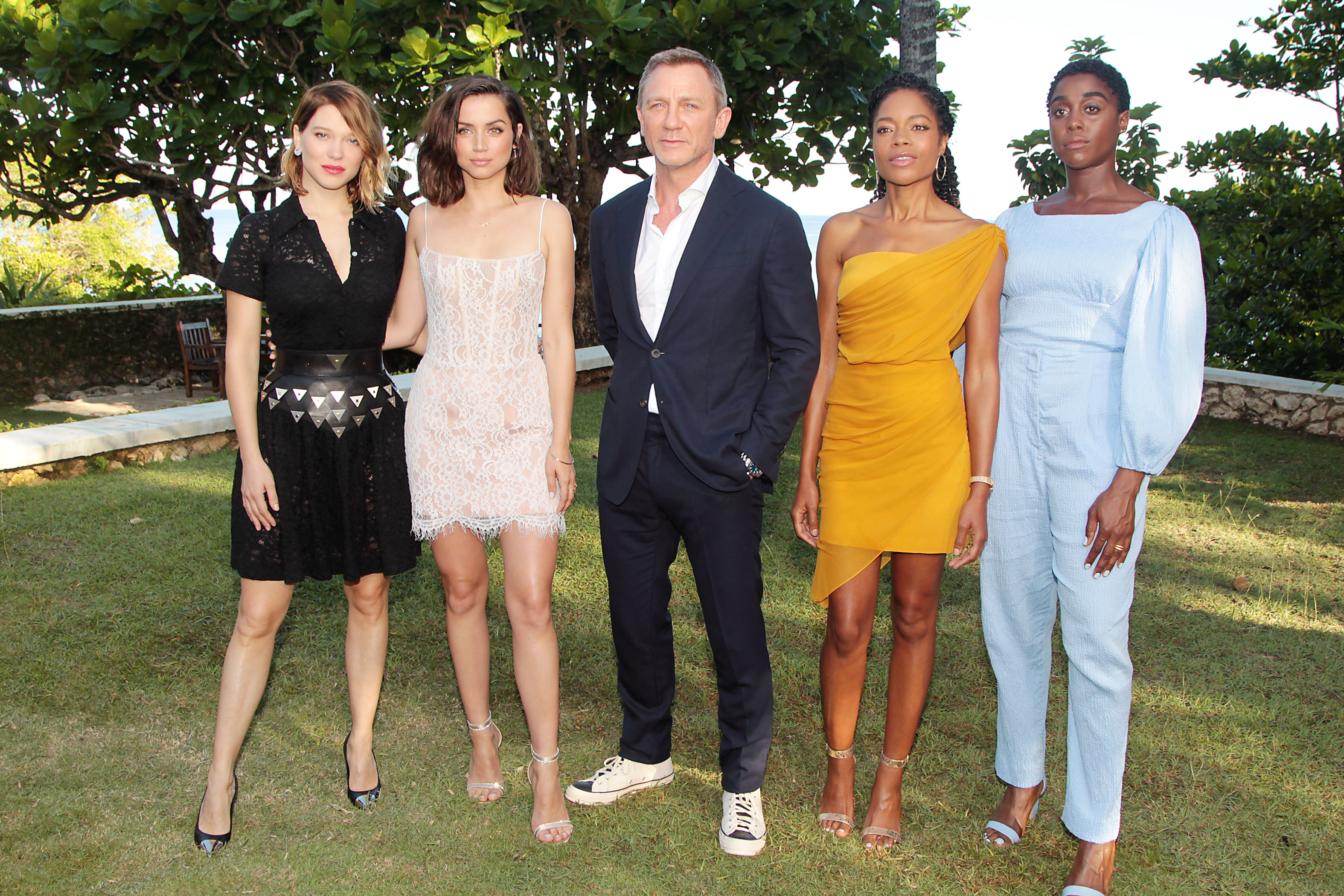 Bond 25 Press Junket In Jamaica, With Daniel Craig, Naomie Harris And More