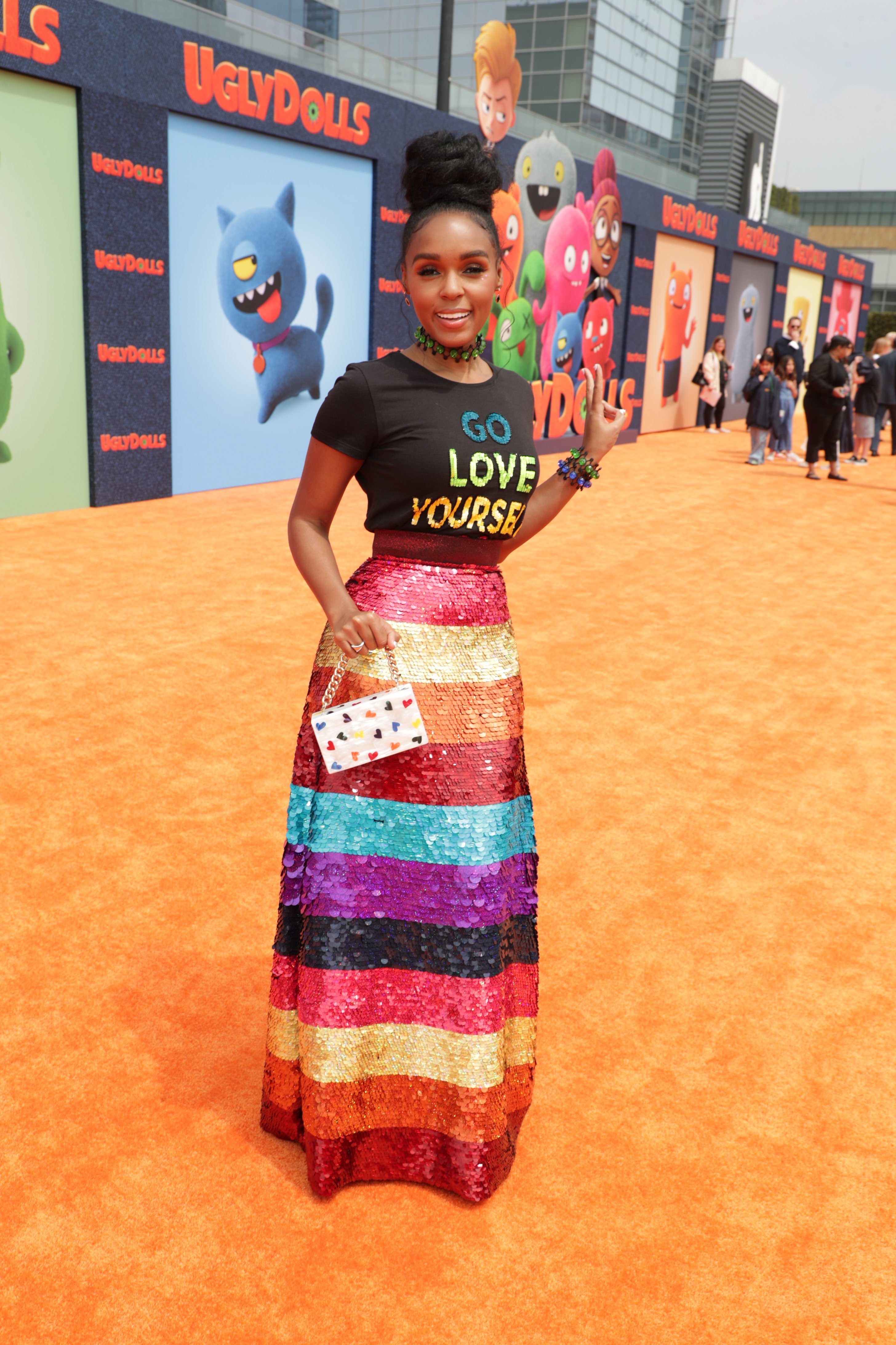 Wardrobe Breakdown: Janelle Monae At UglyDolls Movie Premiere
