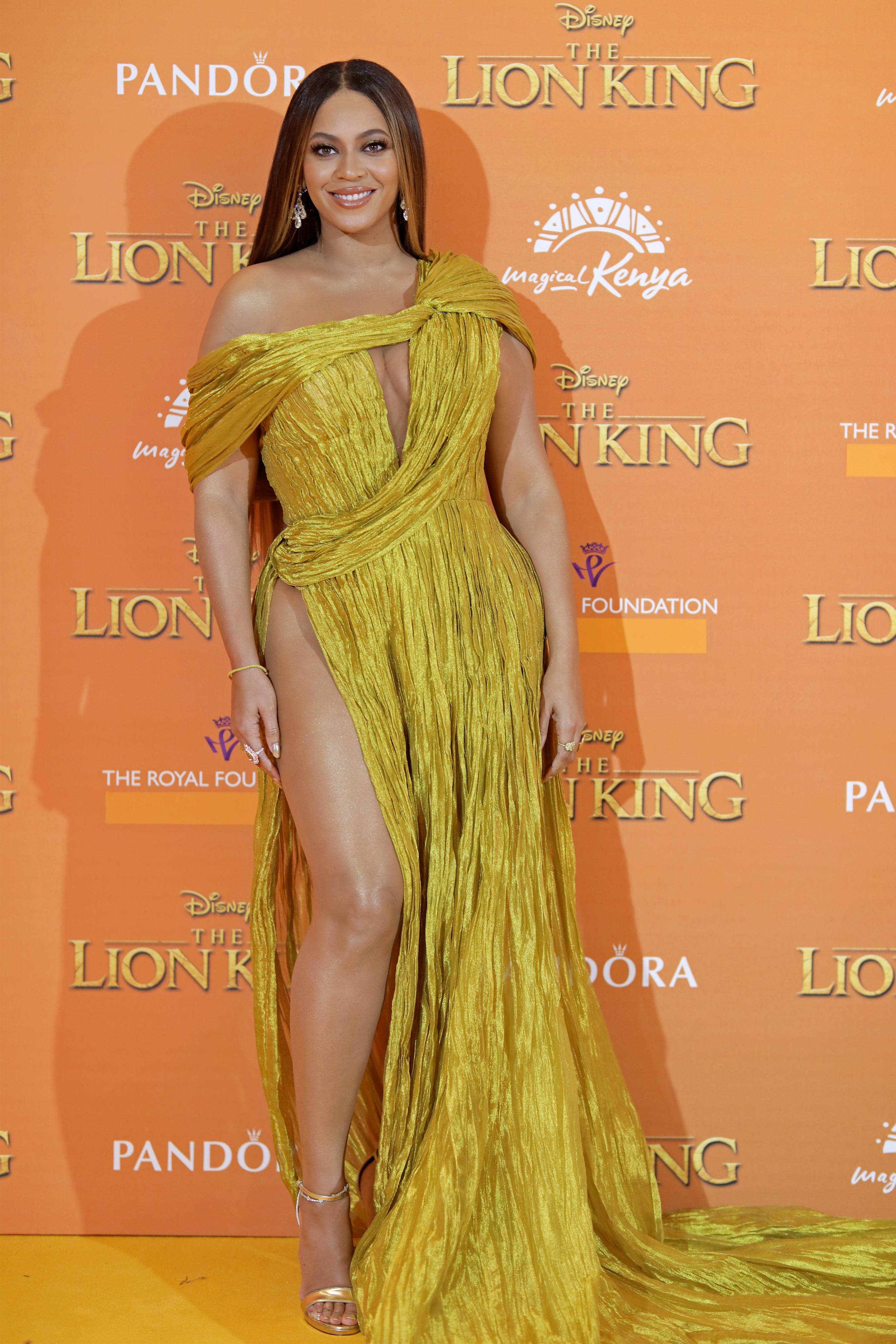 Wardrobe Breakdown: Beyonce At Lion King European Premiere