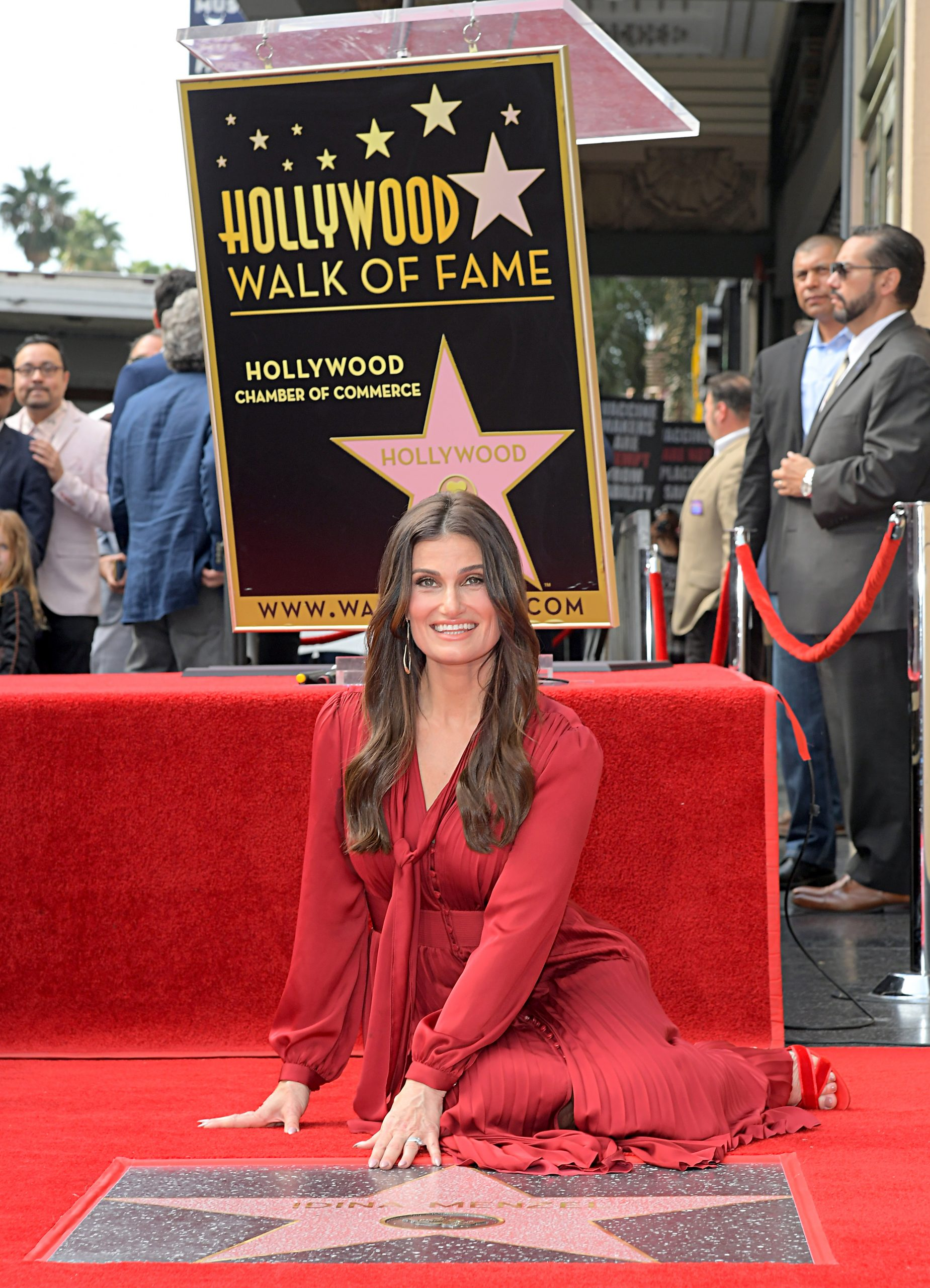 Wardrobe Breakdown: Idina Menzel At Walk Of Fame Ceremony
