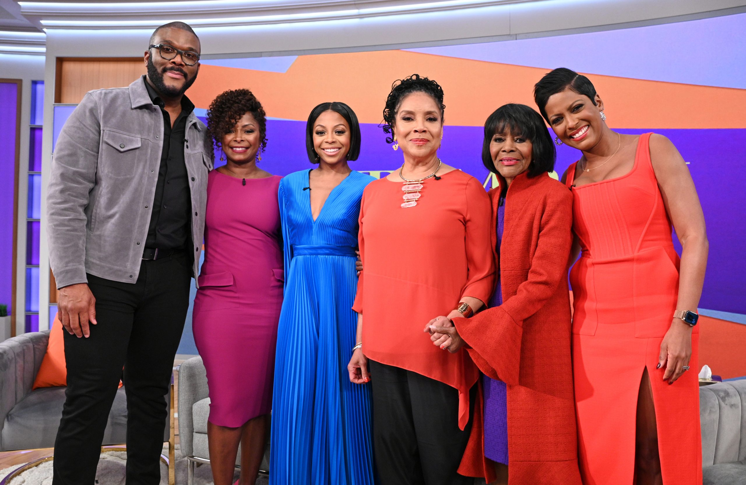 Tyler Perry And The Cast Of His New Netflix Film, A Fall From Grace On Tamron Hall
