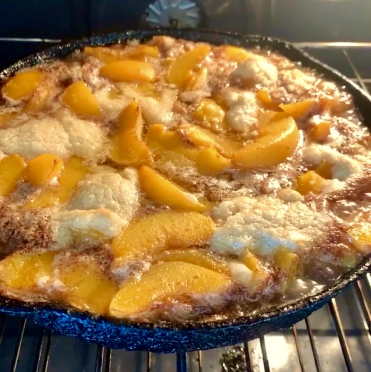 Recipe: Skillet Peach Cobbler