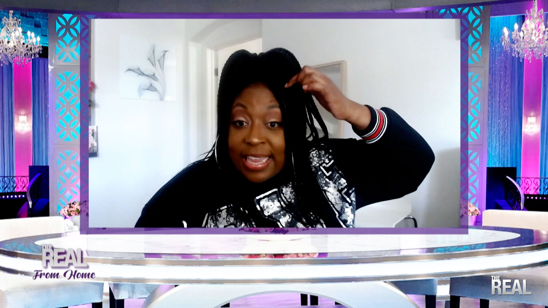THE REAL FROM HOME:  Loni's Got Hairstyling Skills!