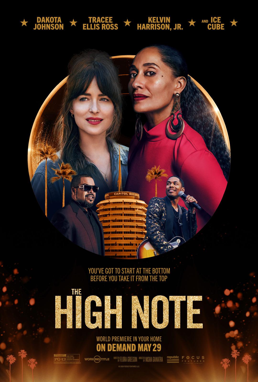 New Movie: The High Note Starring Tracee Ellis Ross & Dakota Johnson