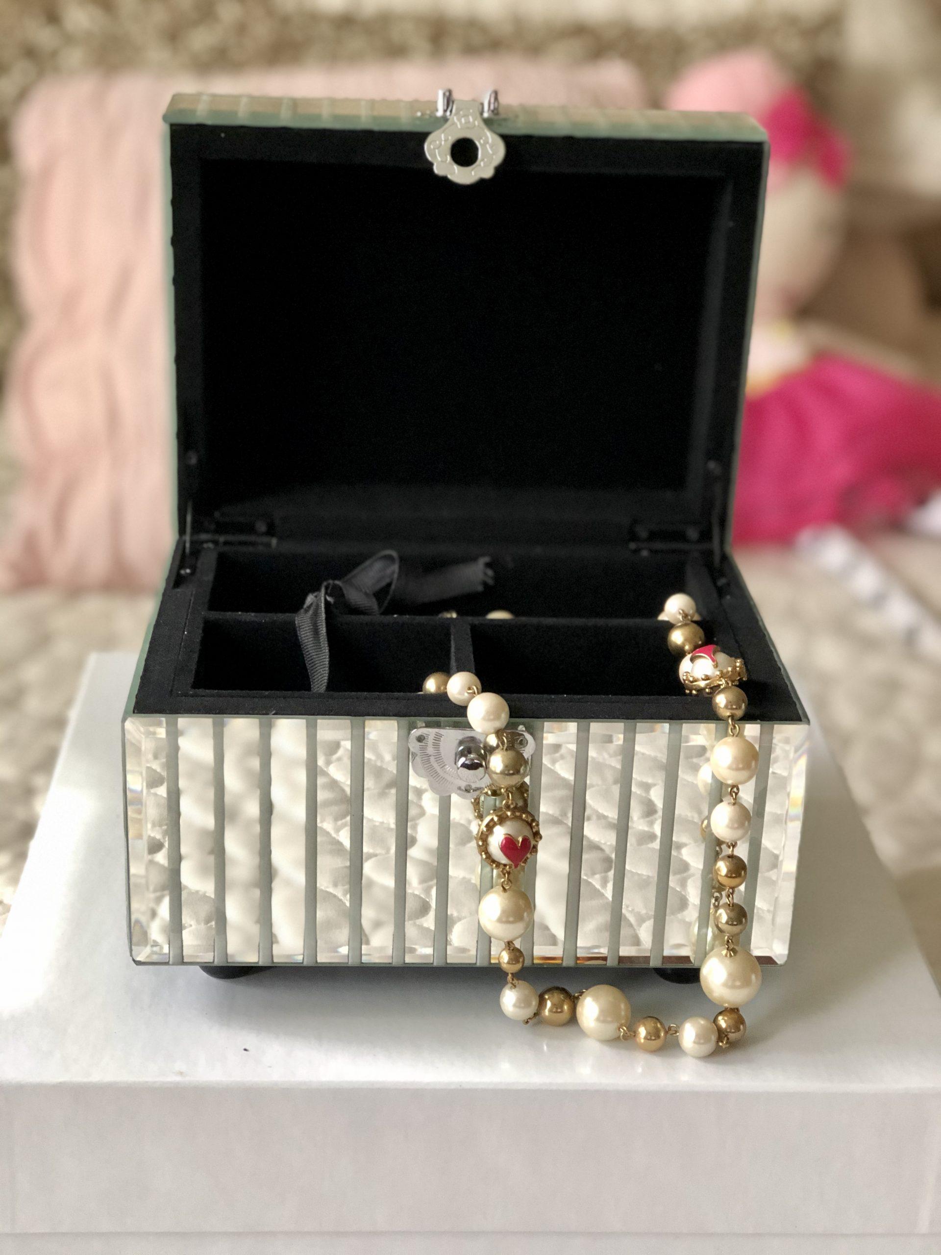 Z Gallerie Mirrored Jewelry Box