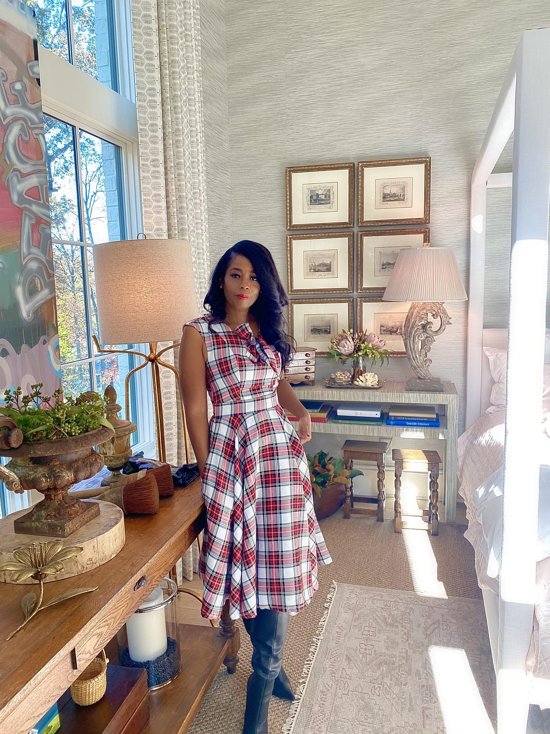 My Style: Retro Red & White Plaid Sasha Swing Dress