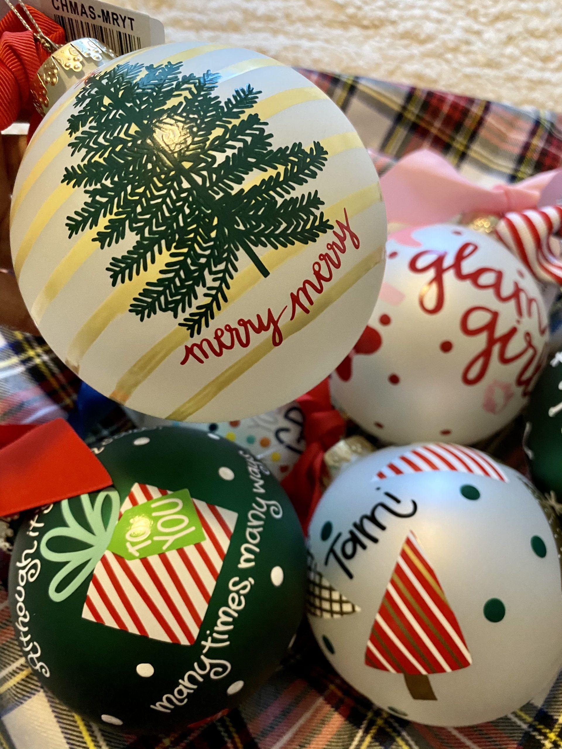 Coton Colors Glass Ornaments