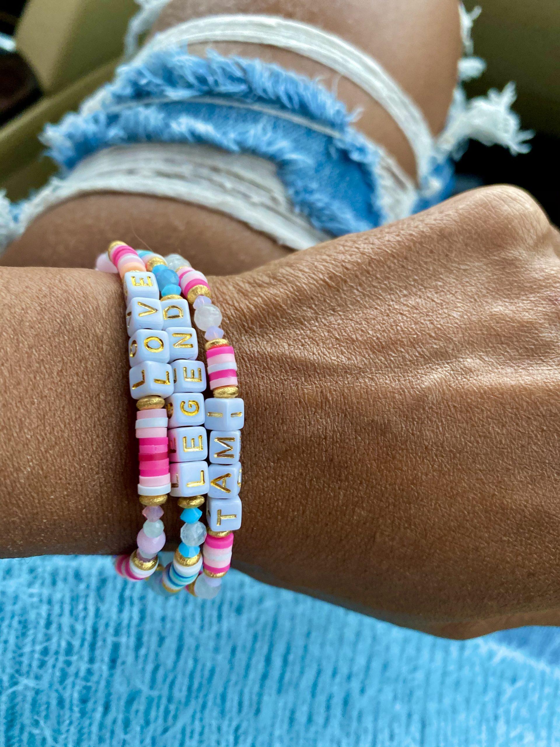 Great Gift Idea: Word It On Personalized Vinyl & Gemstones Bracelets