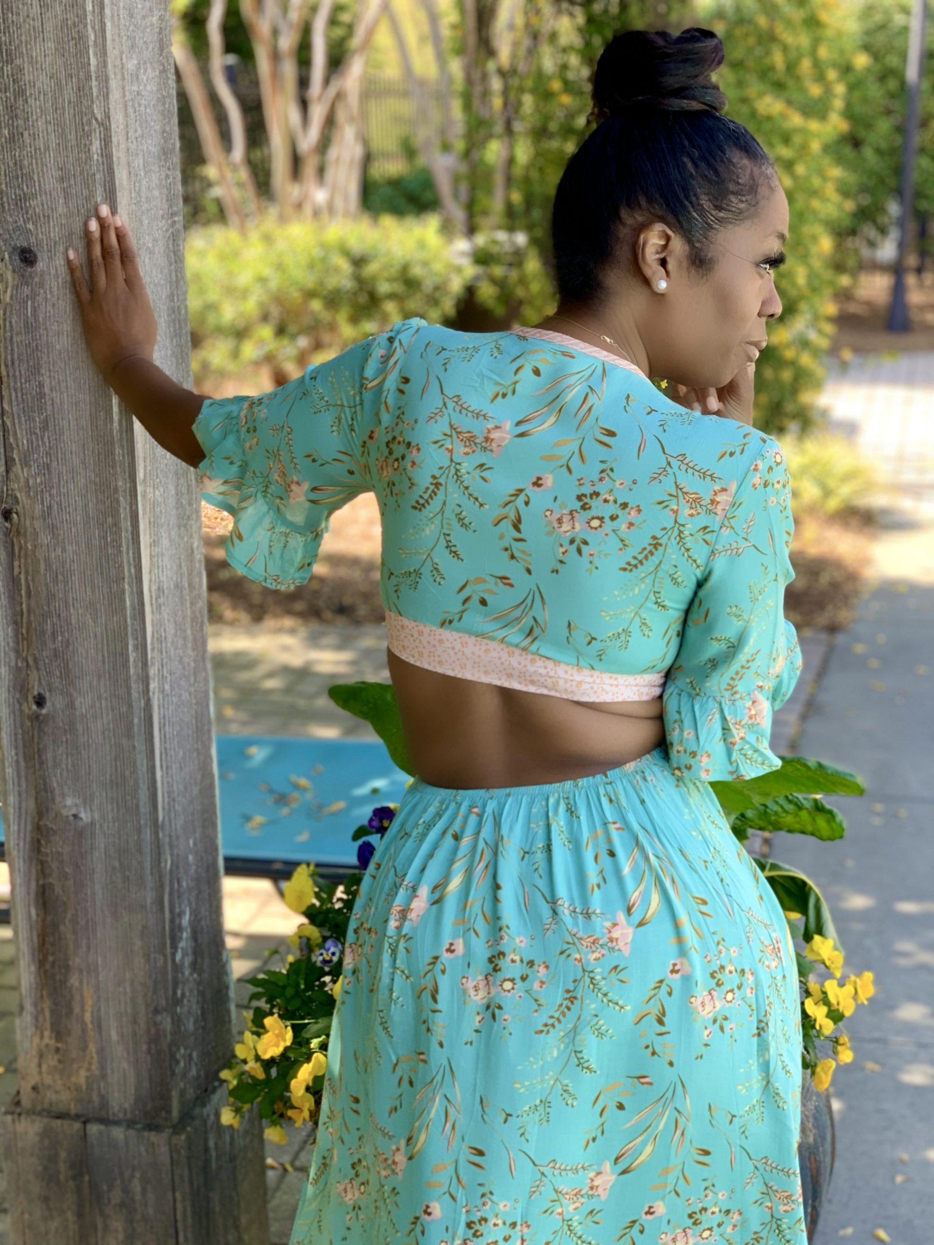 My Style: High-Low Hemline Boho Dress