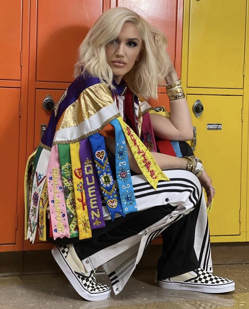 Wardrobe Breakdown: Gwen Stefani On Set Of 'Slow Clap'