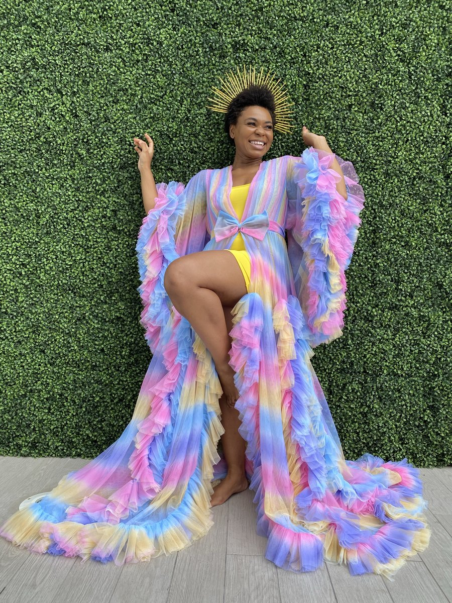 Fashion Trend: Oyemwen Candy Rainbow Tulle Robe