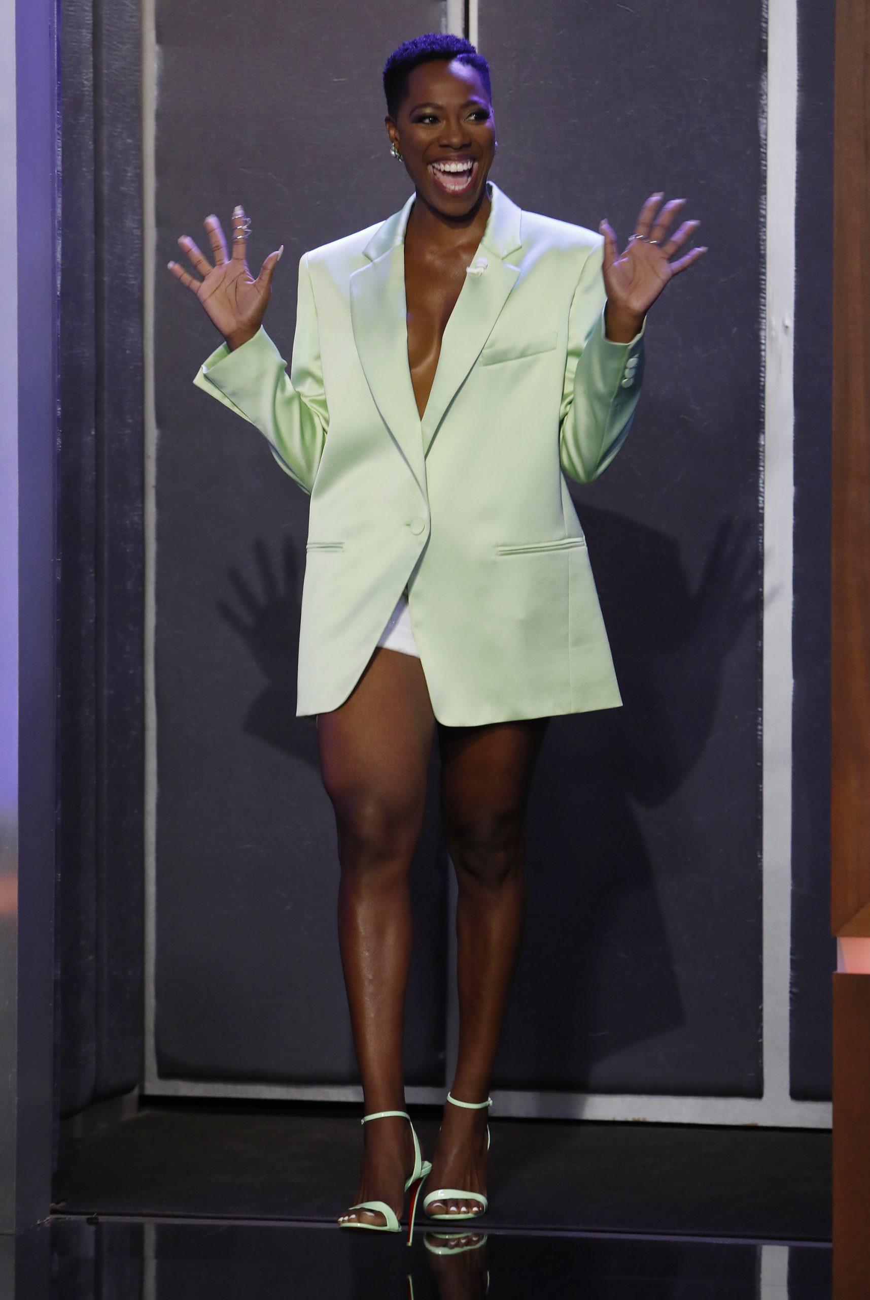 Wardrobe Breakdown: Yvonne Orji On 'Jimmy Kimmel Live'