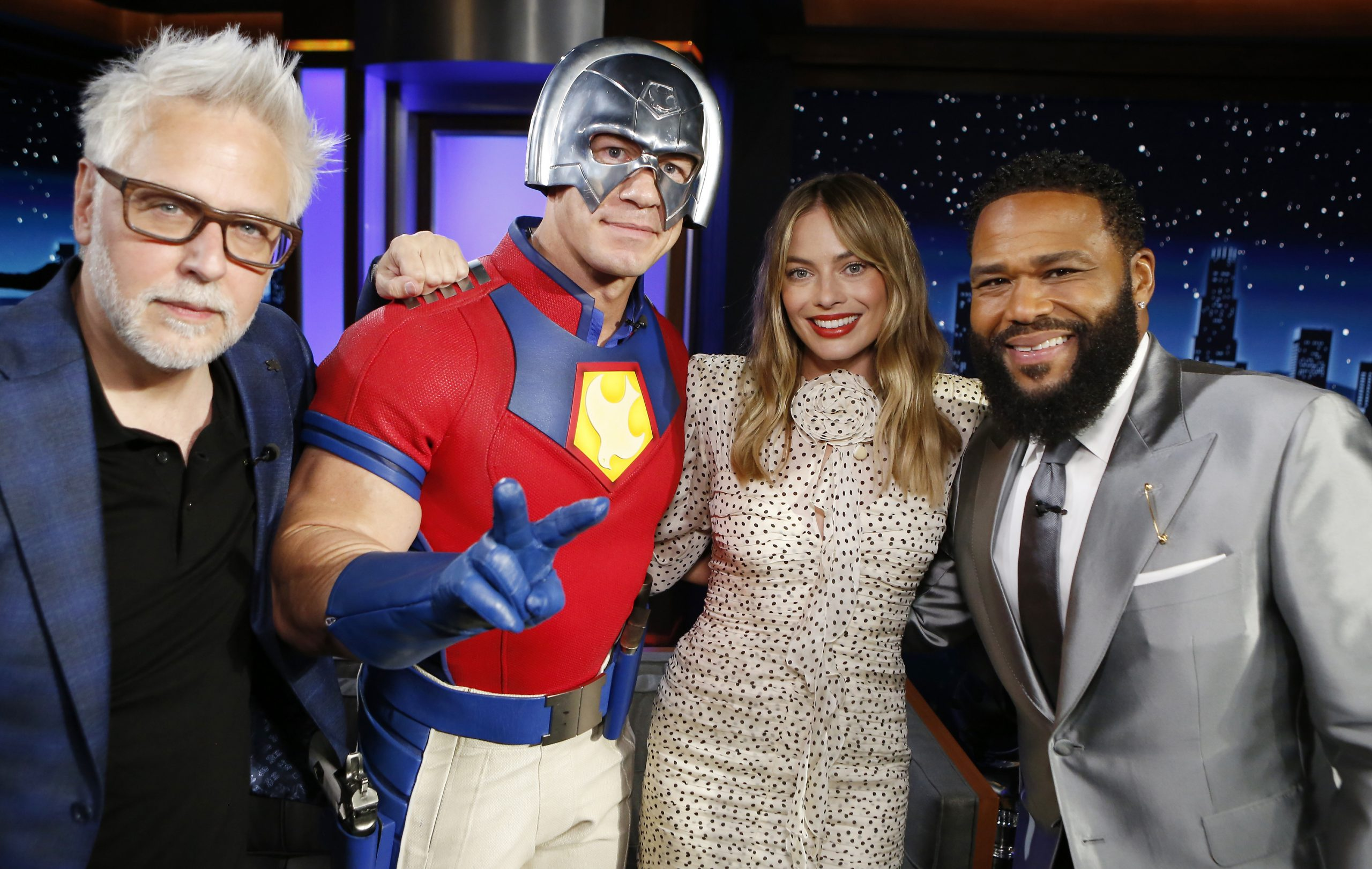 In Case You Missed It: The Cast Of 'The Suicide Squad' Margot Robbie, John Cena And James Gunn Stop By 'Jimmy Kimmel Live'