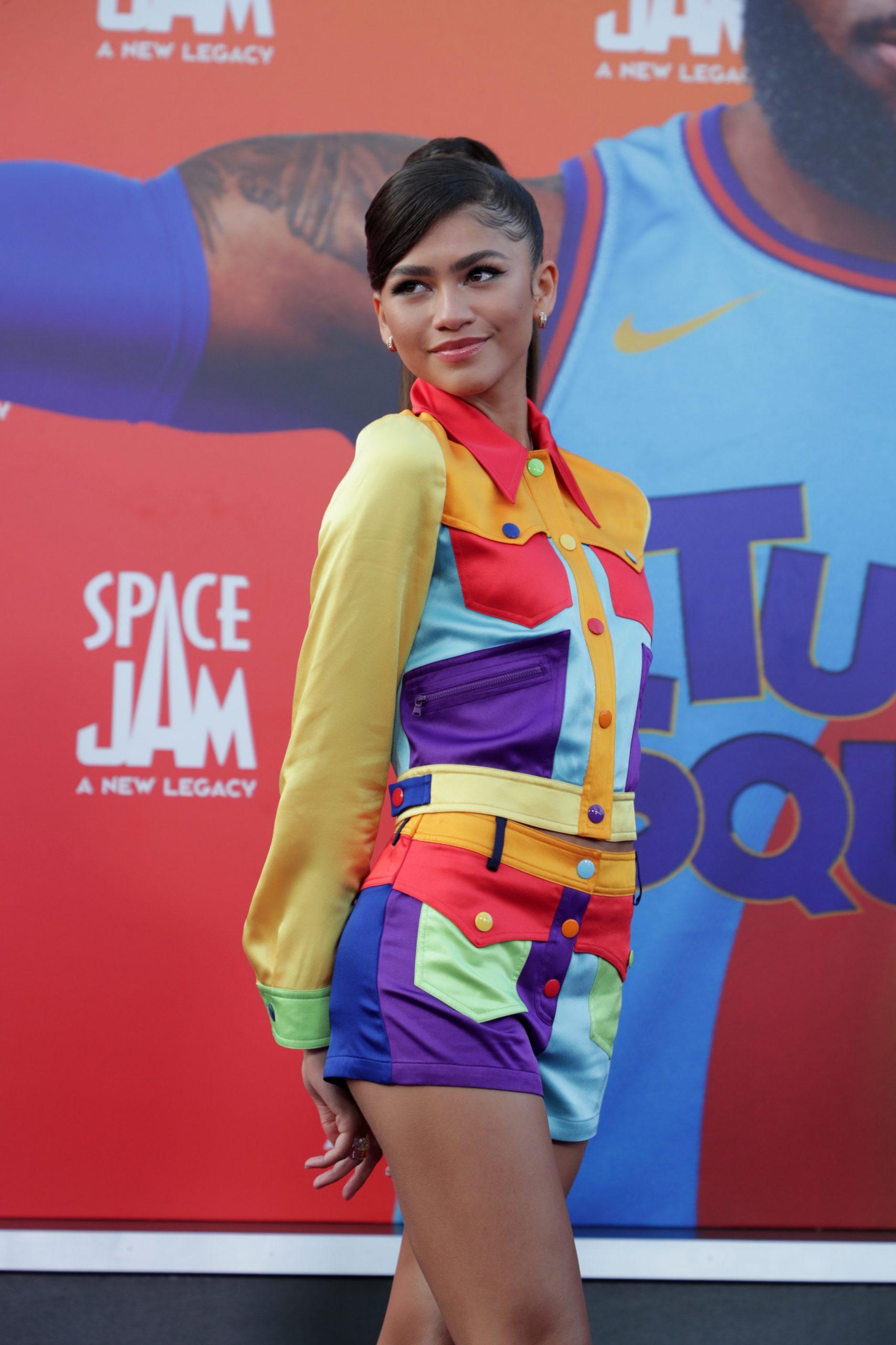 Wardrobe Breakdown: Zendaya Coleman Ất 'Space Jam: A New Legacy' Premiere