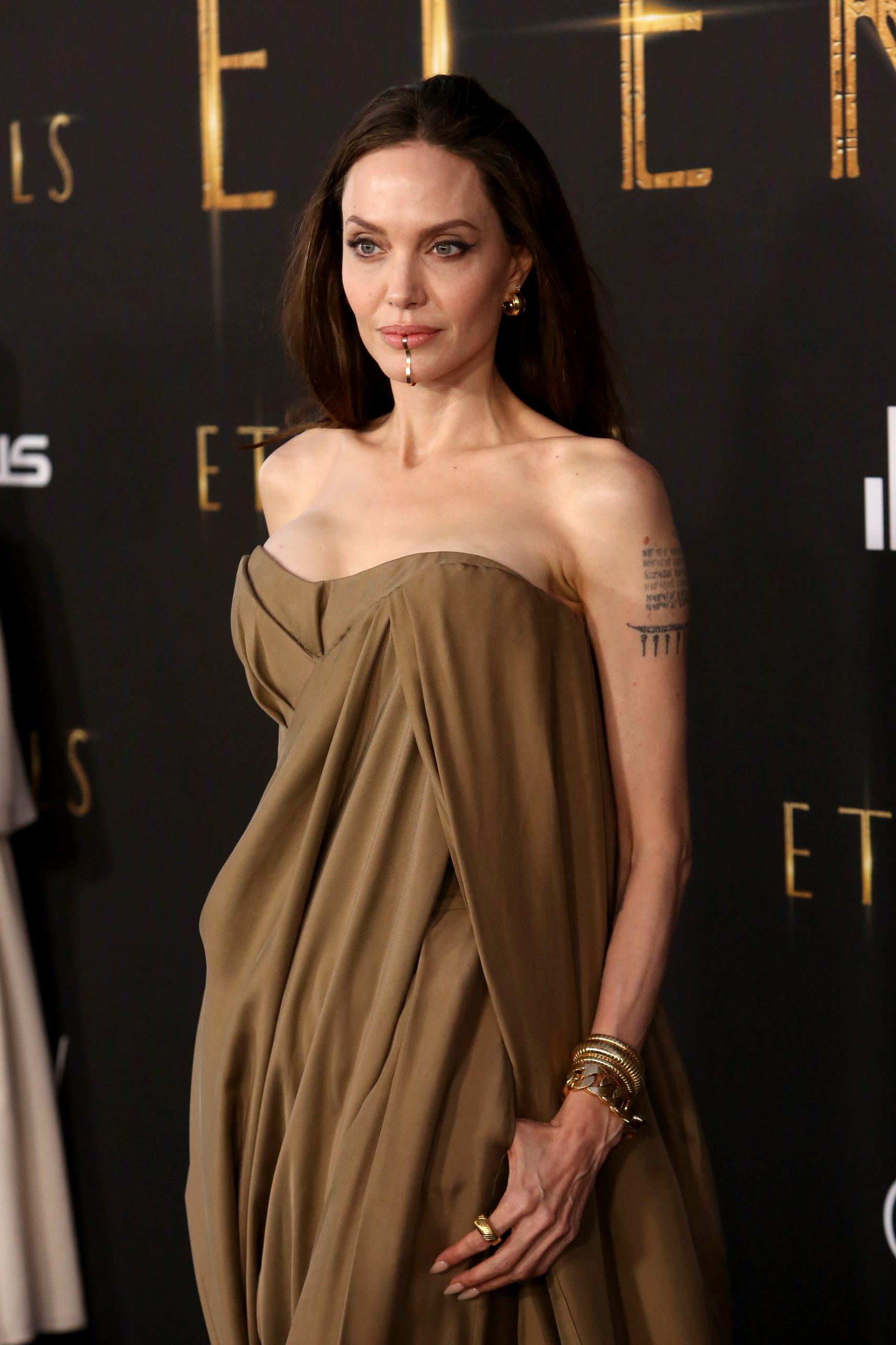 Wardrobe Breakdown: Angelina Jolie At 'Eternals' World Premiere