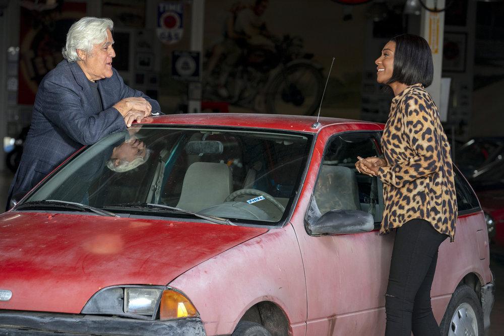 Tiffany Haddish On All-New Episode of 'Jay Leno's Garage'
