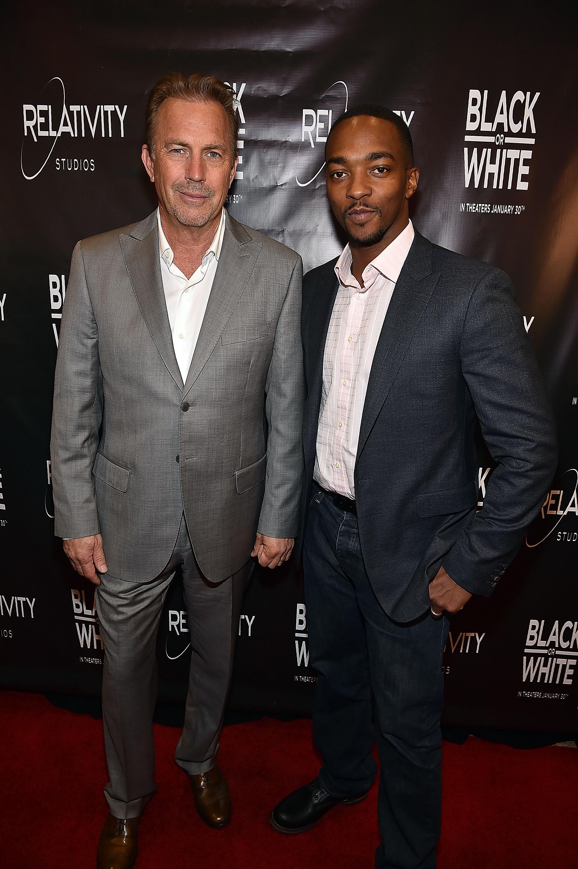Black Or White Screening In Atlanta With Kevin Costner & Anthony Mackie