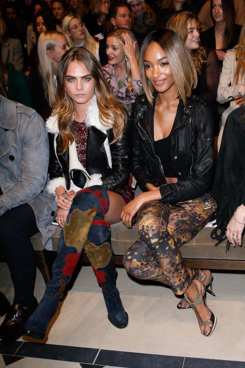 Naomi Campbell, Jourdann Dunn, Kate Moss & More Attend Burberry Fashion Show