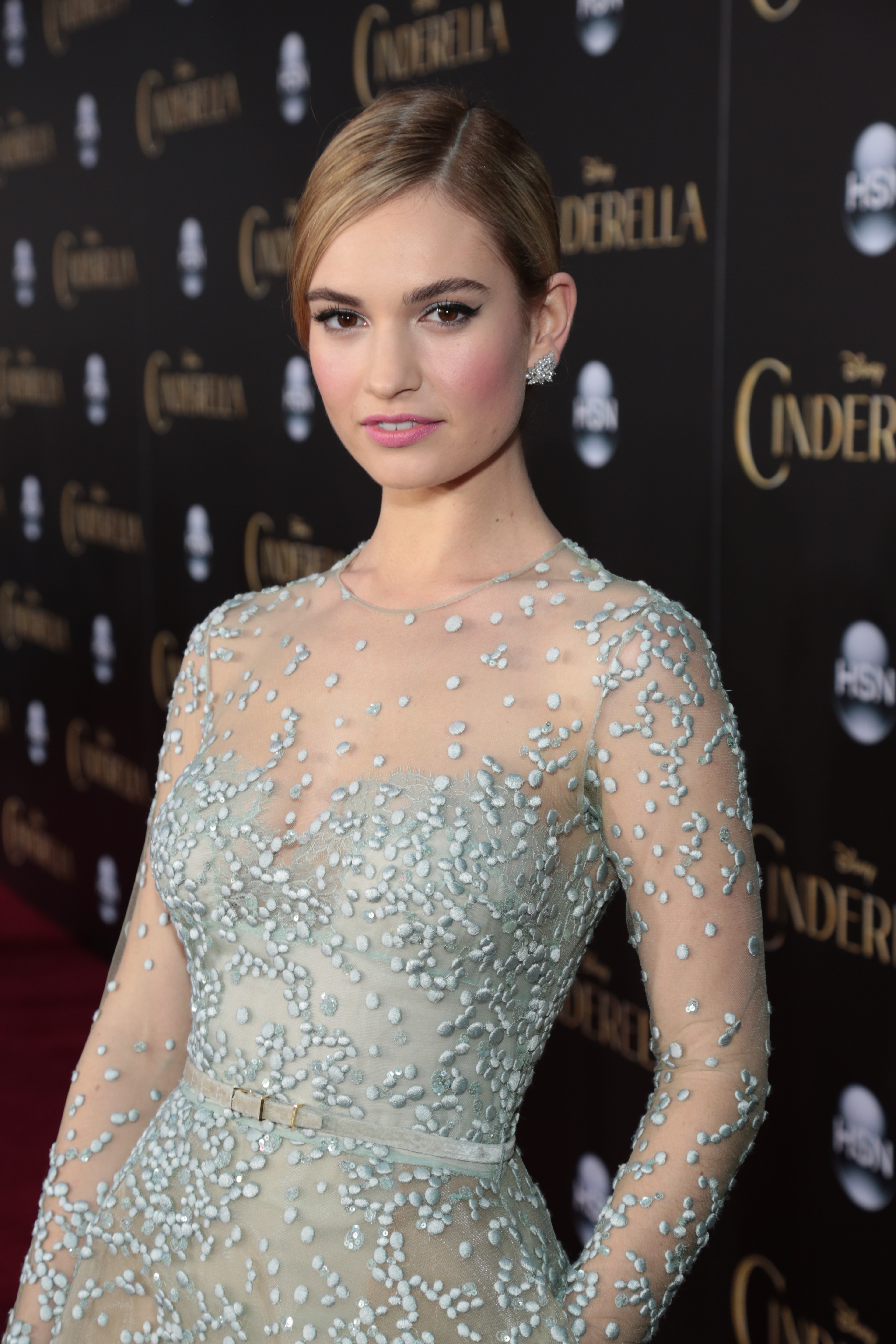 Spotted: Lily James in Elie Saab Couture