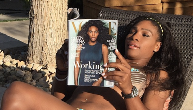 """Serena Williams Recreates Beyonce's """"7/11"""" With Vogue"""