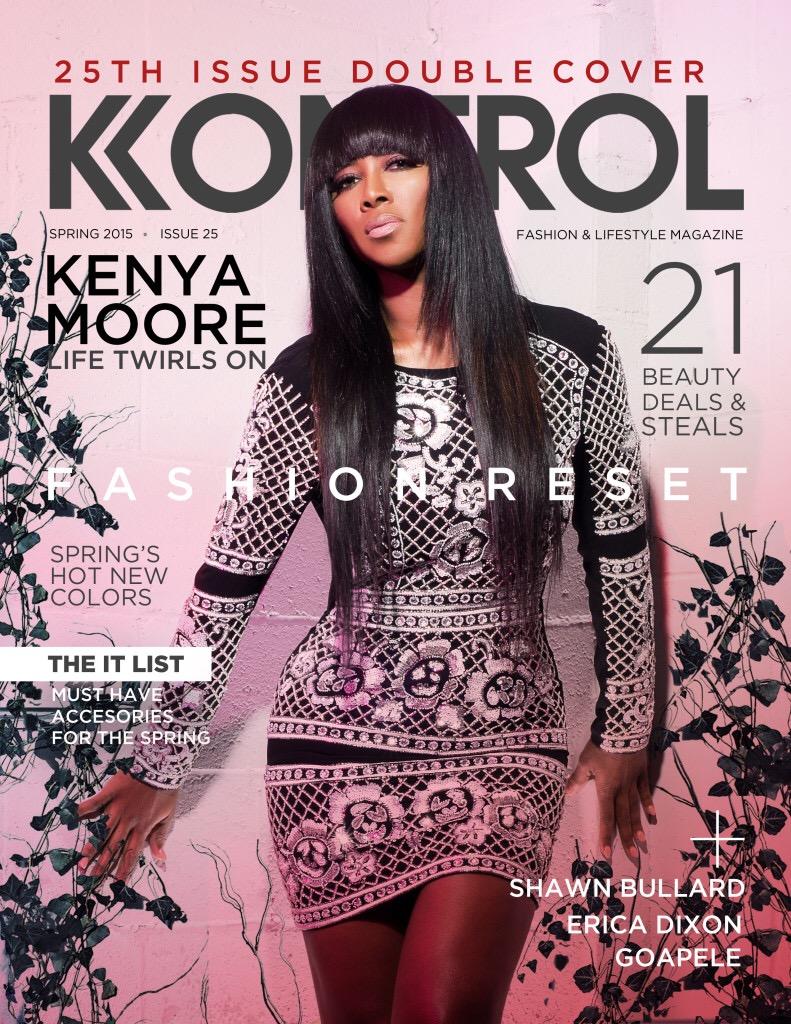 Wardrobe Breakdown: Kenya Moore Kontrol Magazine Cover Shoot