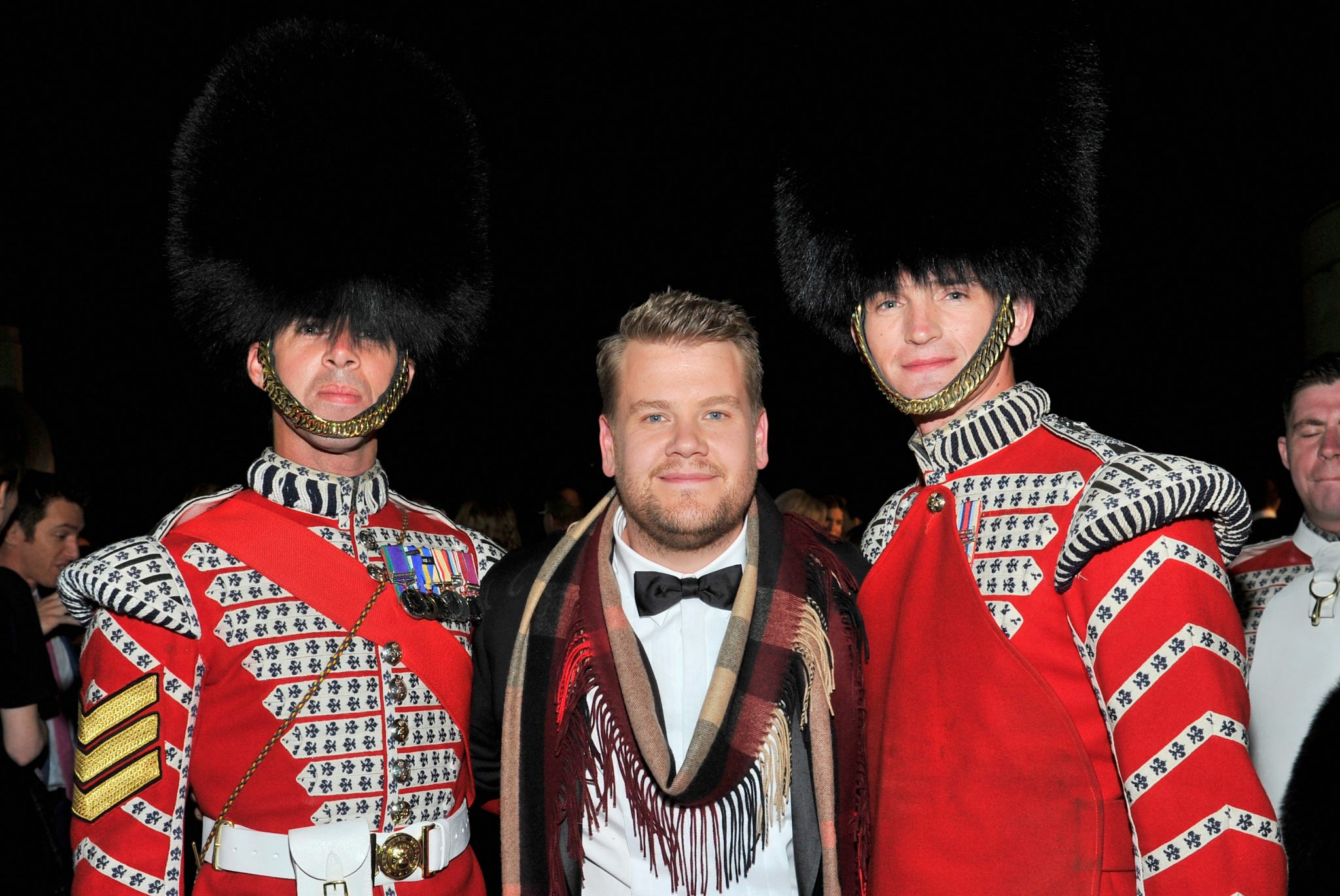 Late Night Talk Show Host James Corden Crashes The Burberry Fashion Show