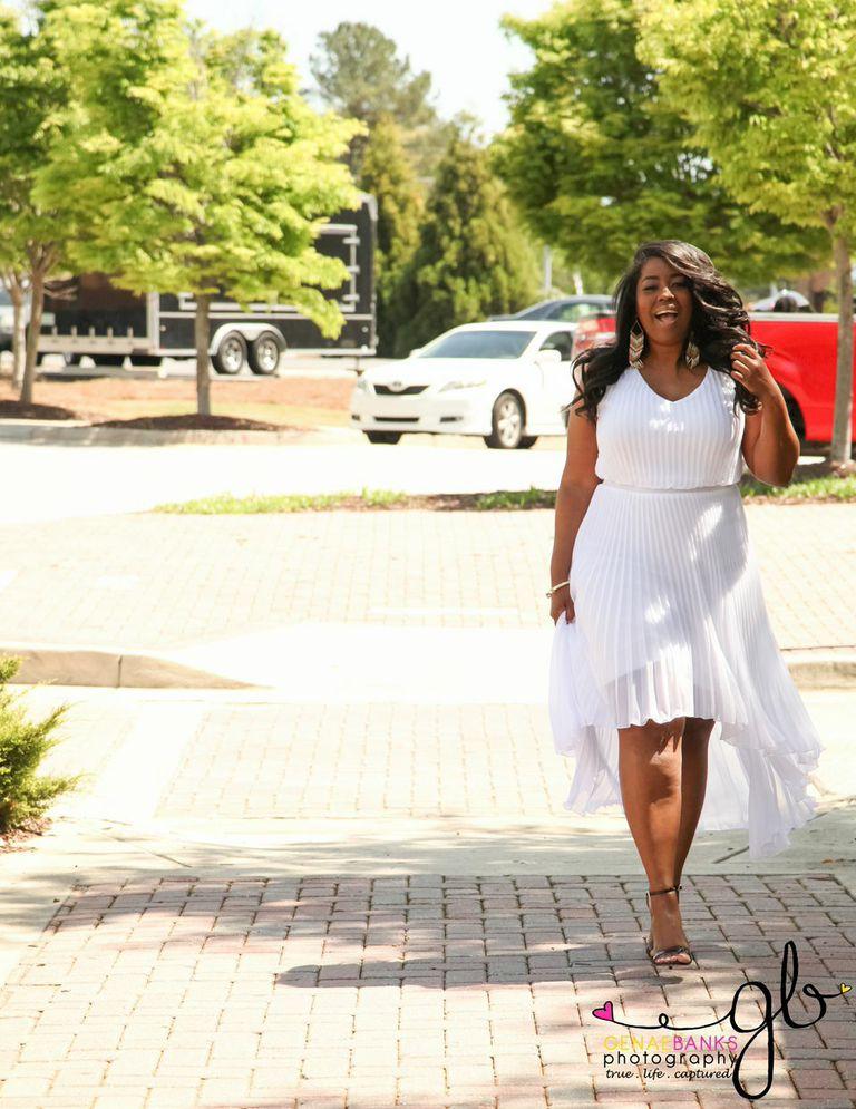 My Style: Hi-Low Pleated Dress