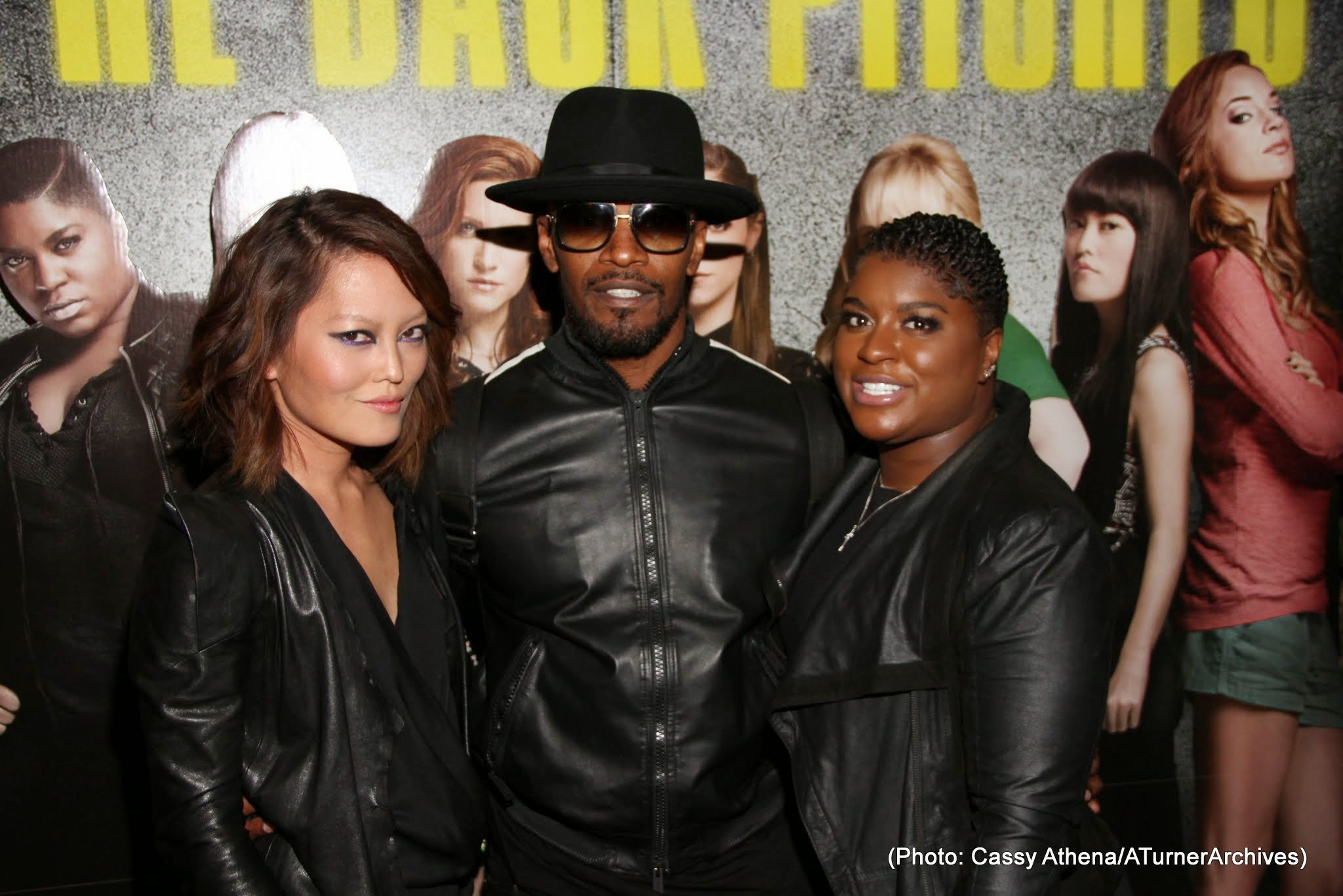 Jamie Foxx & Friends Attend Advance Screening Of PITCH PERFECT 2 Hosted By Ester Dean!