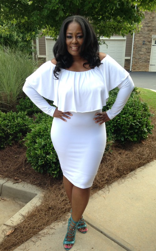 Fashion Reworked: Chic & Curvy Off The Shoulder BodyCon Dress