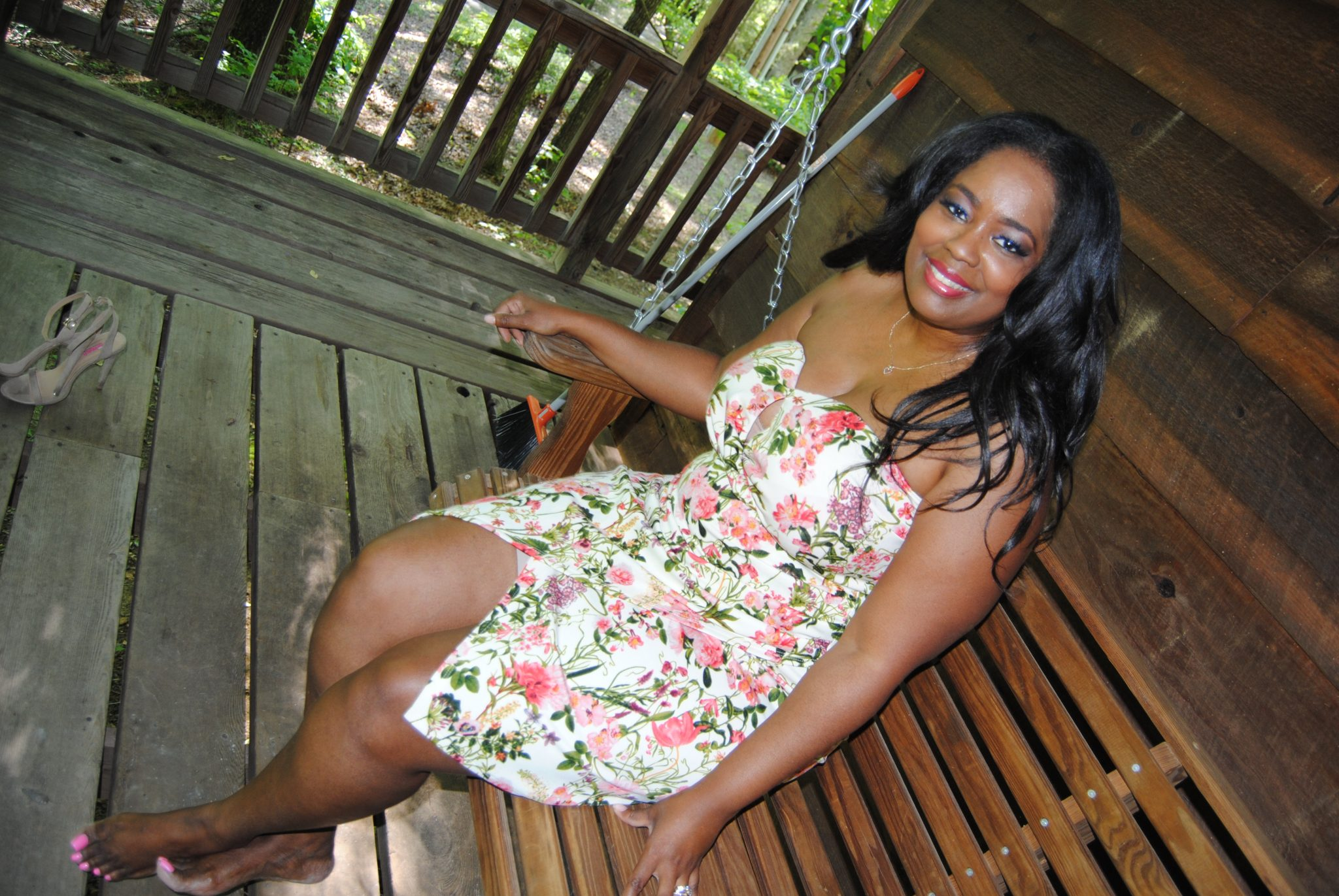 My Style: Floral Strapless Dress