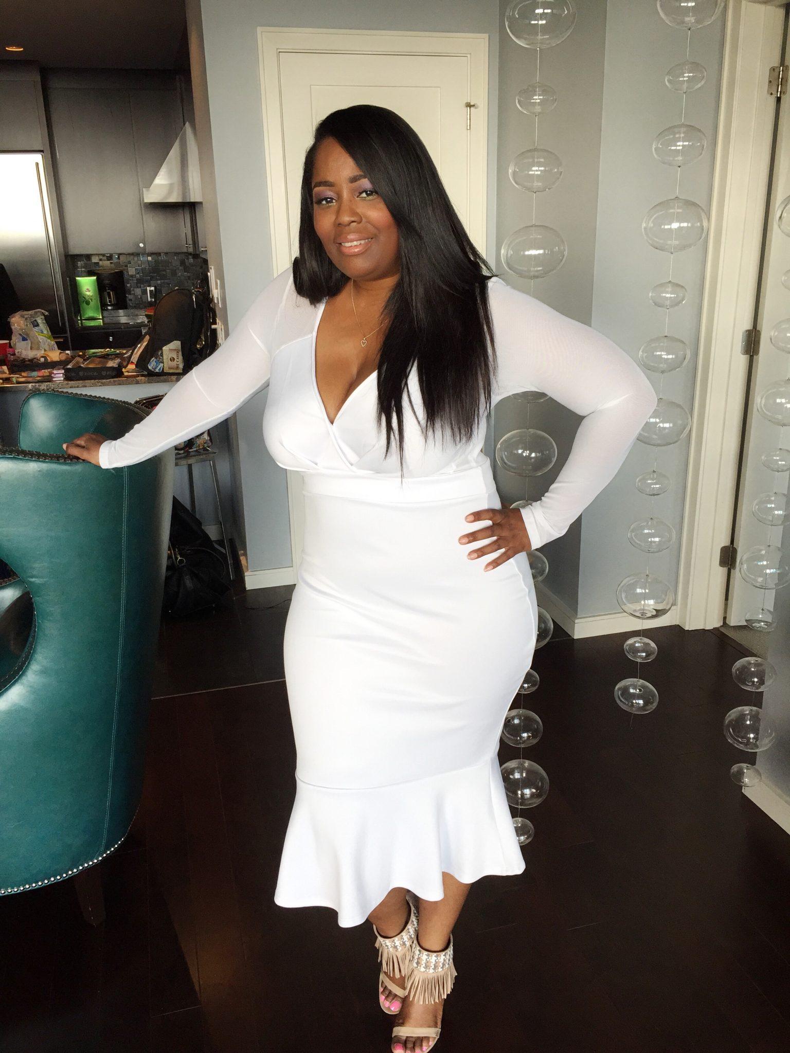 My Style: Mermaid Bottom White Dress
