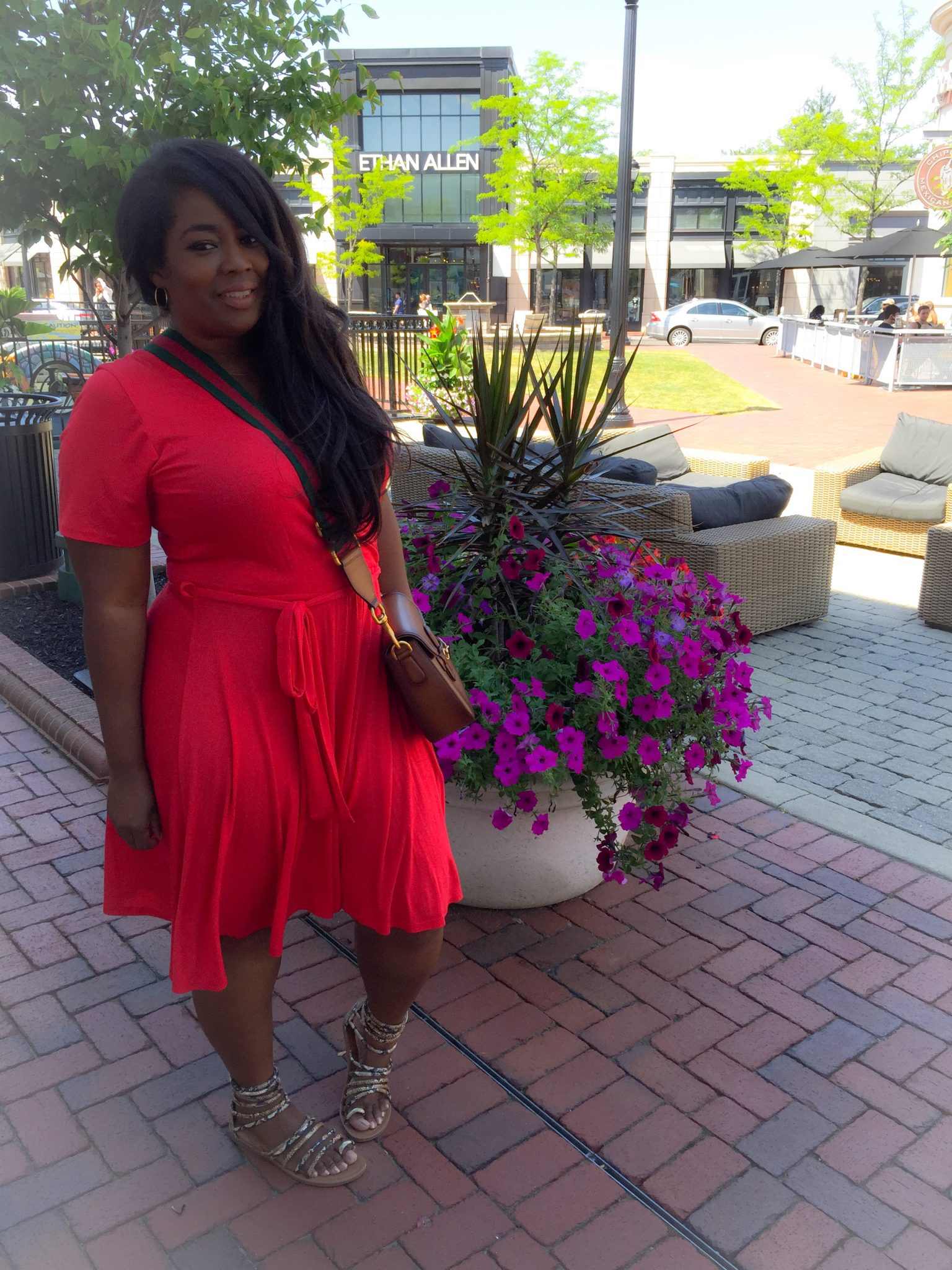 My Style: Red Wrap Dress