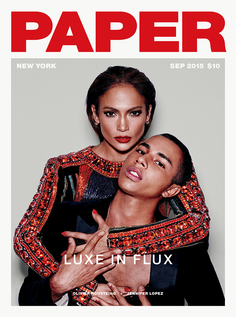 J Lo & Olivier Rousteing For Paper Magazine